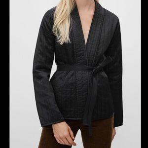 Aritzia Golden Harmon satin quilted jacket